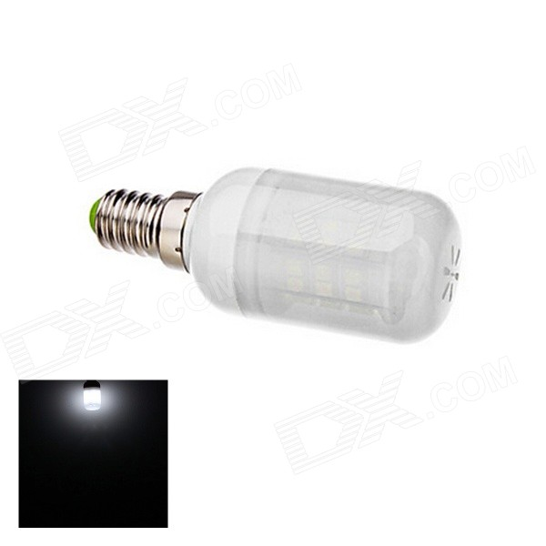 E14 3W Neutral White Light LED Corn Bulb - White (AC 220V)E14<br>Form  ColorWhiteColor BINNeutral WhiteModelF69MaterialPVC + glassQuantity1 DX.PCM.Model.AttributeModel.UnitPower3WRated VoltageAC 220 DX.PCM.Model.AttributeModel.UnitConnector TypeE14Chip BrandNICHIAChip Type3528Emitter Type3528 SMD LEDTotal Emitters48Theoretical Lumens220 DX.PCM.Model.AttributeModel.UnitActual Lumens180 DX.PCM.Model.AttributeModel.UnitColor Temperature5000KDimmableNoBeam Angle180 DX.PCM.Model.AttributeModel.UnitCertificationRoHSPacking List1 x E27 Lamp<br>
