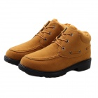 NT00015-3 Men's Winter Fashionable Velvet-like Warm Martin Boots - Yellow (Pair / Size 42)