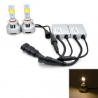 9005 36W Car LED Headlight Foglight Warm White Light 3500K 3200lm w/ LED Driver (DC 12~24V / 2PCS)
