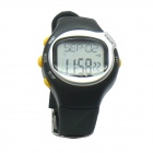 Heart Rate Pulse Calorie Monitor Digital Sports Watch - Black