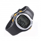 Heart Rate / Pulse / Calorie Monitor Digital Sports Watch - Black (1 x LR44)