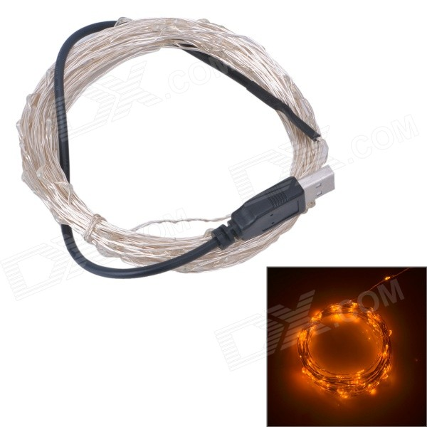 USB Powered 6W LED Lamp Strip Yellow Light 585nm 500lm SMD 0603(10M)
