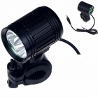 ZHISHUNJIA ZSJ360-B30 3-LED Bicycle Lamp White Light 2400lm 4-Mode w/ Bike Mount - Black (4 x 18650)