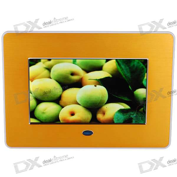 "7"" Wide Screen TFT LCD Digital Photo Frame with AV-Out and SD/MMC/MS/USB Slots (480*234px)"