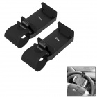 OUMILY Adjustable Car Steering Wheel Mounted Phone Holder Bracket - Black (2 PCS)