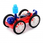 DIY Educational Assembly Compressed Air Car Toy - Red + Blue + Multi-Color