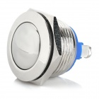 14101002 19mm Metal Automatic Reset Press Button Switch for Electric Appliances - Silver + Blue