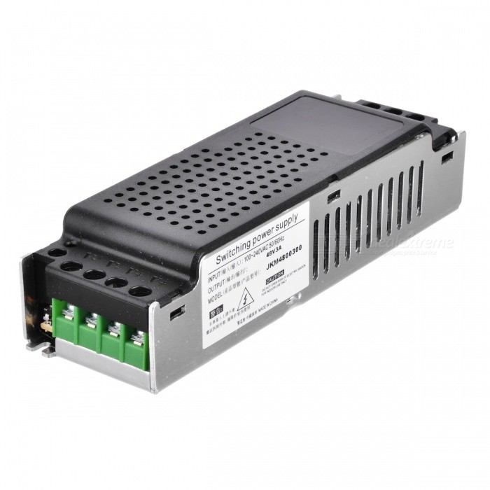 48V 3A Switching Power Supply - Black (AC 100~240V)