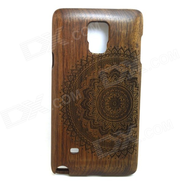 LS-N4 Mandala Pattern Back Case for Samsung Galaxy Note 4 - BrownOther Cases<br>Form  ColorBrownModelLS-N4Quantity1 DX.PCM.Model.AttributeModel.UnitMaterialWoodShade Of ColorBrownCompatible ModelsSamsung Galaxy Note 4StyleBack CasesDesignSolid Color,GraphicAuto Wake-up / SleepNoPacking List1 x Back case<br>
