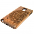 LS-N4 Mandala Pattern Back Case for Samsung Galaxy Note 4 - Brown