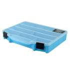 CARKING YWCY 2287 Plastic Tool Storage Case Box - Blue + Transparent