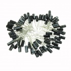 0.1~470uF Electrolytic Capacitors Pack - Black (130pcs)