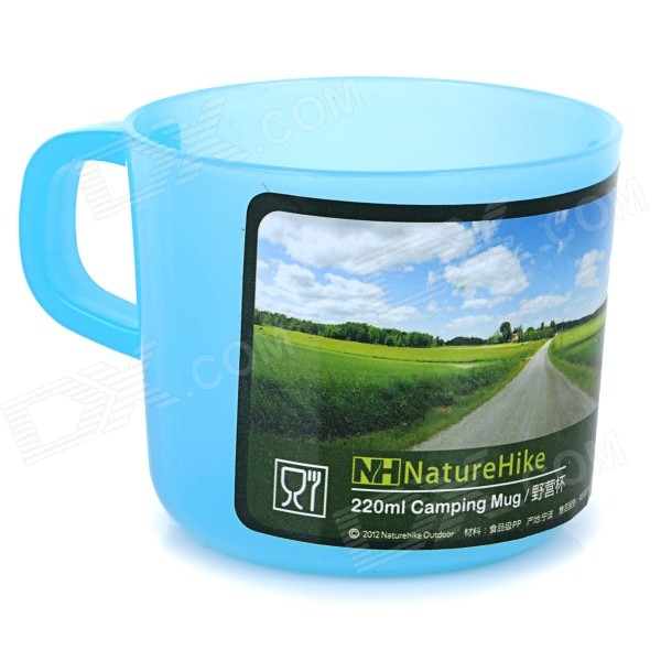 NatureHike Portable Mini Outdoor Travelling Gargle Cup - Blue (220ml)