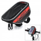 "B-SOUL B-015 Bicycle Handlebar Mounted Bag for 5.7"" Touch Screen Phone - Black + Red (Size L)"