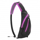 NatureHike Outdoor Sports Water Resistant Nylon um ombro Messenger Bag - Black + Roxo