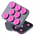Universal 360' Rotating Suction Cup Holder Stand for Cellphone - Black + Pink
