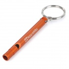 NatureHike Emergency / Survival Aluminum Alloy Whistle - Red Orange