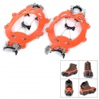 NatureHike Snow Ice Climbing / Mountaineering Shoes Cleats Crampons - Orange + Silver (Pair)