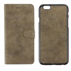 "Frosted Pattern 2-in-1 Protective PU + PC Case for IPHONE 6 PLUS 5.5"" - Coffee Gold"