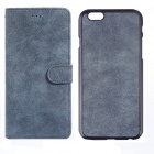 """Frosted Pattern 2-in-1 Protective PU + PC Case for IPHONE 6 PLUS 5.5"""" - Blue"""
