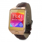"No.1 G2 1.54"" MTK2502 Bluetooth V4.0 Smart Watch w/ Heart Rate, Pedometer, Camera - Gold + Brown"