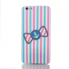 Cartoon Bow Pattern Protective PC Back Case for IPHONE 6 PLUS - Black + Blue + Multicolored