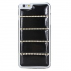 Rhinestones Decorated Protective TPU Back Case for IPHONE 6 PLUS - Black