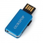Ourspop OP-34 Little Book Style USB 2.0 Flash Drive - Blue (2GB)