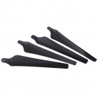 1552 Foldable Carbon Fiber CW / CCW Propellers - Black (4PCS)