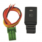CARKING DC12V 4-Wire Car Fog DRL Switch for Toyota Corolla - Black