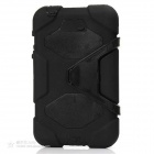 "Stylish Protective Silicone Case w/ Stand for Samsung Galaxy Tab3 7.0"" P3200 - Black"