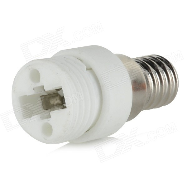 HH221 E14 to G9 Light Lamp Bulb Adapter - White + SilverOther Accessories<br>ModelHH221MaterialCeramicForm  ColorWhite + SilverQuantity1 DX.PCM.Model.AttributeModel.UnitPacking List1 x E14 to G9 adapter<br>