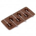 Cute Stars Shaped 6-Compartment Silicone Bonbon Mold - Coffee