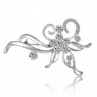 eQute XPEW27C1 Women's Korean Style Fashionable Alloy + Rhinestone Studded Brooch - Silver