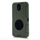 Protective Silicone Back Case w/ Stand for Samsung Note 3 N9000 - Army Green