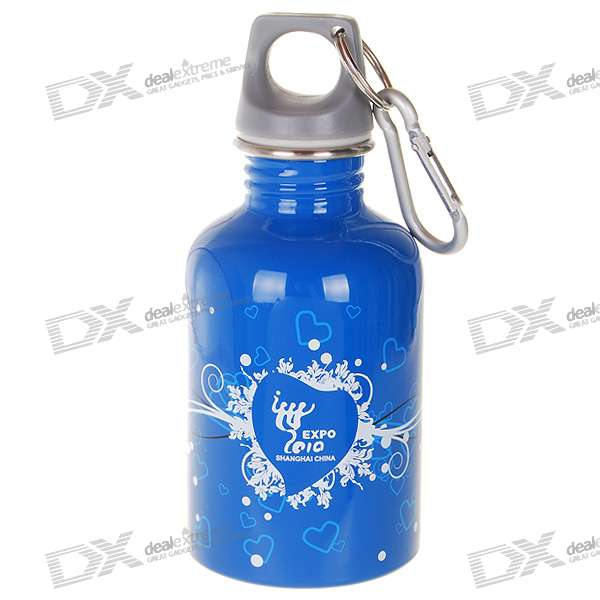 Expo 2010 Shanghai China Licensed Product - 300ml Stainless Steel Bottle with Carabiner