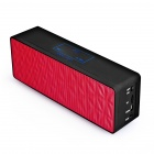 MOCREO Brics Portable Wireless Bluetooth Speaker with Micphone, Aux In, TF Card - Black + Red