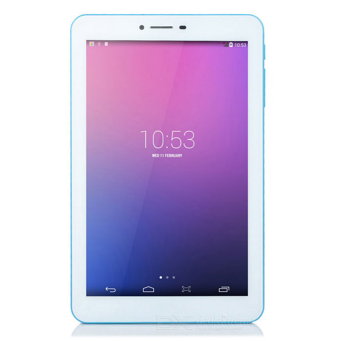 "Colorfly G708 3G 7"" IPS Android 4.4 Mali-450 Octa-Core Tablet PC w/ 1GB RAM£¬ 8GB ROM£¬ Wi-Fi - White"