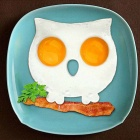 Cute Owl Shaped Silicone Fried Egg Mold - Black