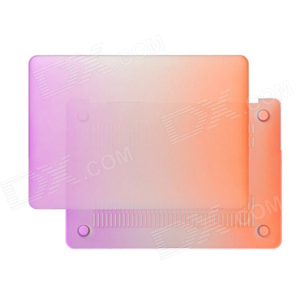 Matte Hard Protective PC Case for MACBOOK AIR 13.3 - Orange + PurpleNetbook&amp;Laptop Cases<br>Form ColorOrange + PurpleBrandN/AModelN/AQuantity1 DX.PCM.Model.AttributeModel.UnitShade Of ColorOrangeMaterialPCCompatible ModelMACBOOK AIR 13.3Compatible BrandAPPLETypeFull Body CasesStyleCasual,Fashion,ContemporaryCompatible Size13.3 inchOther Features1) Suitable model: MACBOOK PRO 13.3 inch; 2) The polycarbonate hard case material provide a ultra-thin and lightweight protection for the MACBOOK; 3) The convex rubber foot-pad and vent at the bottom case can make the heat dissipation more effectively; 4) Size: 32cm x 22.5cm (approximate) 5)If you are not sure of the model of your macbook,you can see at the bottom of the MACBOOK. Number at the bottom of the Apple MACBOOK AIR 13.3 inch is A1278Packing List1 x Protective Case<br>