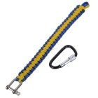 Outdoor Emergency Survival Parachute Cord Bracelet w- Yellow + Blue