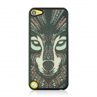 Wolf Head Pattern Stylish PC Back Case for IPOD TOUCH 5 - Black + Red