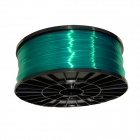 1.75mm Diameter Consumable PLA Wire Cable for 3D Printer - Translucent Green (300m)