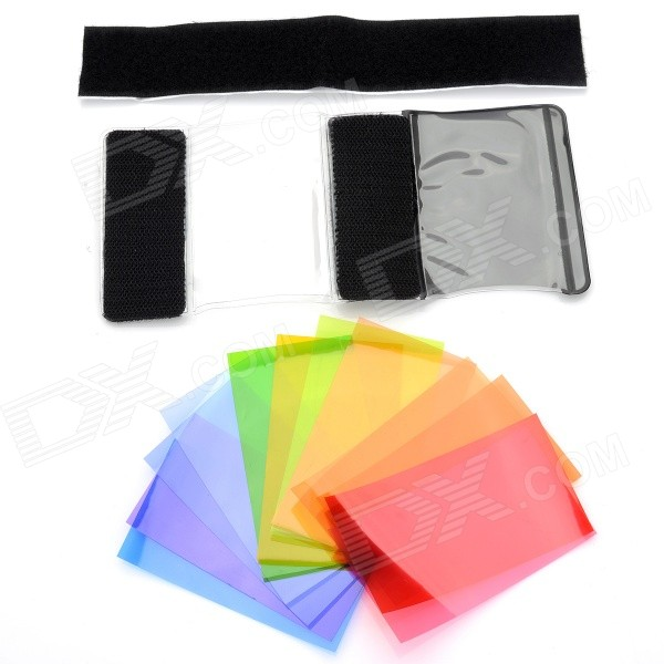 Flash Accessories Diffuser Color Filter Papers Kit for SLR Camera - Black