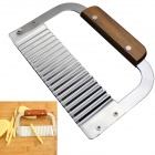 Creative Corrugated Knife French Fries Cutter Kitchen Slicer - Brown