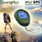 "Rechargeable 1.3"" LCD Mini GPS Locator - Army Green"