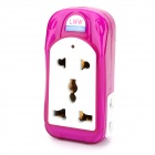 JZR-009 Travel Multi-Functional AC Power 4-Outlet Socket Adapter - White + Purple (EU Plug)