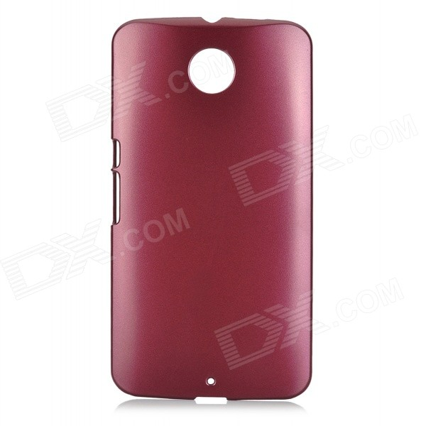 Protective Plastic Back Case for MOTO Nexus 6 - Wine Red
