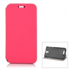 Protective Flip-Open PU Case for ZOPO ZP999 ZP998 - Deep Pink + Black