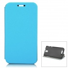 Protective Flip-Open PU Case for ZOPO ZP999 ZP998 - Blue + Black